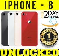 Apple iPhone 8 64GB | 128GB 256GB (GSM UNLOCKED) BLACK SILVER GOLD RED ❖SEALED❖W