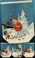 Unica Bella Vecchio Adventstüte Nicholas Pacchetti di Natale 1941> Rarità