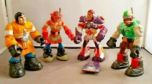 "Mattel Rescue Heroes Toy Action Figures Lot of 4 Vintage 1999  6"" figures"