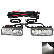 Universal 6 LED Super Bright White Car DRL Daytime Running Light Fog Lamp 12V