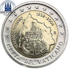 Vaticano 2 EURO MONETA COMMEMORATIVA 2004 stgl. 75 anni di città del vaticano in folder