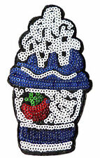 Cake Iron Patch Sew Embroidered Sequins Badge Cloth Sequin Motif Patches  #5
