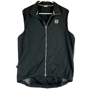 Cannondale Men's Cycling Vest Large Polyester Full Zip Pockets USA Lightweight