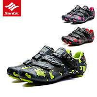 Santic Self-locking Men Pro Road Cycling Shoes PU Breathable Shoes Sneakers