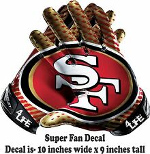 San Francisco 49ers  Auto Car Truck Window Or Wall Vinyl Glossy Decal Sticker