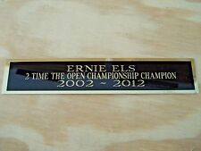 Ernie Els The Open 2X Champ Nameplate For A Golf Flag Or Golf Ball Case 1.5 X 6