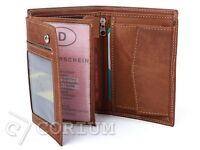 MENS LUXURY SOFT QUALITY LEATHER WALLET, CREDIT CARD HOLDER, PURSE BROWN