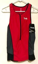 Tyr Competitor Tri tank Men's Large (L) Nwt Red Grey and Black