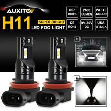 H11 H9 H8 H16JP LED Fog Driving Light Bulbs Extremely Bright DRL 6000K 2600LM x2