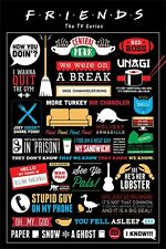 FRIENDS - TV SHOW POSTER / PRINT (INFOGRAPHIC - QUOTES, LOGOS & PICTOGRAMS)