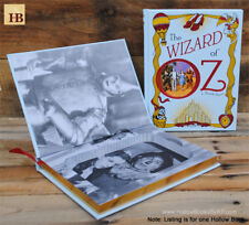 Hollow Book Safe - The Wizard of Oz - White Leather Bound Book Safe