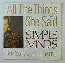 """7"""" Single - Simple Minds - All The Things She Said - S764 - washed & cleaned"""