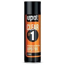 UPOL 0796 Clear #1 U-Pol High Gloss UV Resistant Clear Coat Aerosol Can