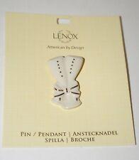 Lenox Champagne Celebration Toast Ceramic Pin Brooch $35 New New Year or Wedding