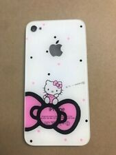 Hello Kitty iPhone 4S Back Glass Battery Door A1387 Gsm Cdma Cover New Usa