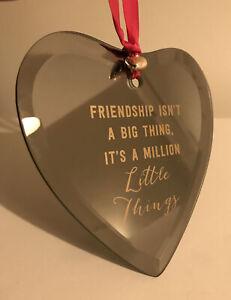 "Heart Mirror Hanging Plaque ""FRIENDSHIP""-NEW"