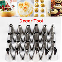 Sugarcraft 24 Pcs Icing Piping Nozzles Tips Pastry Cake Cupcake Decor Tool Bake*