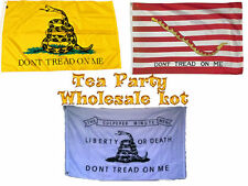 3x5 The Tea Party Special Gadsden (3 Different Flags) Flag 3'x5' Gift Set