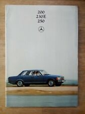 Mercedes Benz brochure 200, 230E, 250 - circa 1980