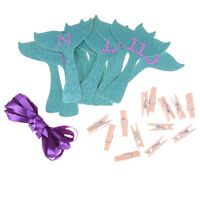 monthly photo banners mermaid garland first birthday party decoration supplie GX