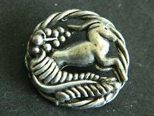 Antique ART DECO Pierced animal Button GAZELLE