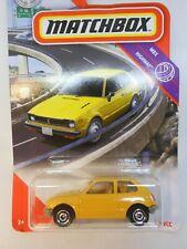 Matchbox 2020 Yellow '76 Honda Civic CVCC Hatchback MBX 45/100 New