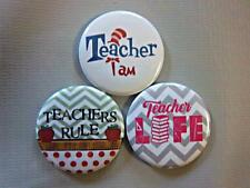 TEACHER THEMED SET #2 ~ Exchangeable System for Retractable Reel ID Badge Holder