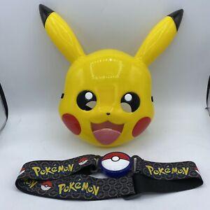 Pokemon Pikachu Mask & Poke ball Clasping Belt 2018 Adjustable Sizing