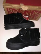 NIB Vans Chukka V Moc Suede Baby/Toddler Shoes, Black, Size 4