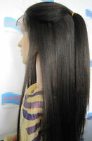 "12""-22"" soft yaki straight 100% indian remy human hair full/front lace wigs"