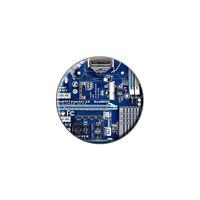 Blue Computer Motherboard - Processor Memory Metal Lapel Hat Round Pin Tie Tack