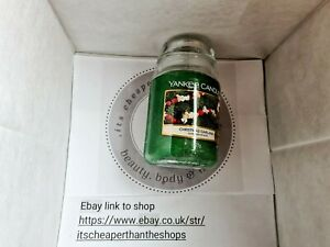 Yankee candle large jar candle....discontinued christmas garland ..623g💓💕