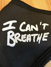 I Can't Breathe 2-Sides Black washable FaceMask Polyester Cotton Blm Minneapolis