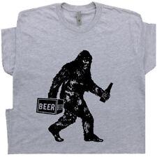 Bigfoot T Shirt Funny Beer Graphic Tee Vintage Sasquatch Yeti Drinking Alcohol