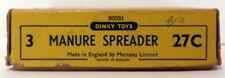 Vintage Dinky 27C - Manure Spreader - EMPTY BOX ONLY