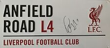 ROBERTO FIRMINO HAND SIGNED ANFIELD ROAD STREET SIGN LIVERPOOL.