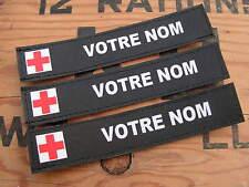 Bande patronymique .: NOIRE + MEDIC :. LoT de 3 patro PERSONNALISABLE