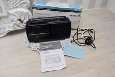 Retro Hitachi trk-60e Top handle Cassette Tape Recorder MW FM Radio Boxed Vtg