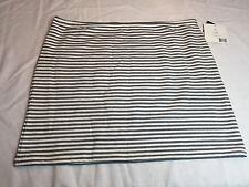 NEW Liz Claiborne Women's XL Striped Skirt Gray White