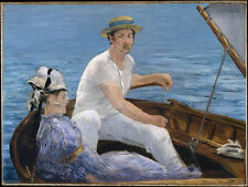 oil painting Edouard Manet Boating young couple on the boat free shipping canvas