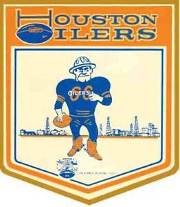 Houston Oilers  Vintage Looking  1960's   NFL AFL   Football     Decal  Sticker