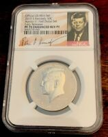 2019 S Kennedy Half Enhanced Reverse Proof NGC PF70  Early Releases Apollo 11