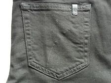 JOES JEANS WOMENS SKINNY ANKLE W/ LEATHER BLACK LEGGING JEAN PANTS SIZE 28 NEW