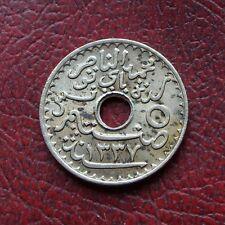 Tunisie 1919 nickel-bronze 5 centimes