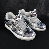Heelys Shoes Youth Size 4M (Womens Size 5) Silver Heelys Split Chrome 770449