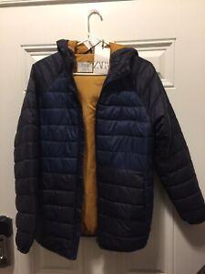 Zara Kids Collection Boys Puffer Jacket Navy Blue Sz 13-14 New