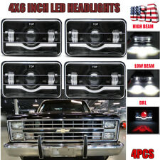 "4""X6"" 4PCS LED Headlights High/Low Beam For Chevy C10 Pickup 81-1987 Ford Truck"