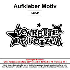TOURETTE DU FOTZE  - Autoaufkleber Aufkleber Fun Spaß Sticker Lustige Sprüche