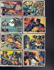 1966 TOPPS BATMAN BLACK CARD PARTIAL SET GOOD-VERY GOOD