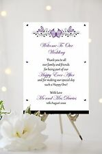 Butterfly Wedding Welcome Thank you Sign Personalised ALL COLOURS A3 SIZE